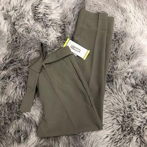 Hilary Radley   Womens' Olive Belted Dress Pant